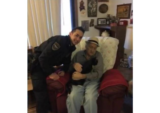 Police Officer Chooses the Purrrfect Companion for Elderly Shut-In