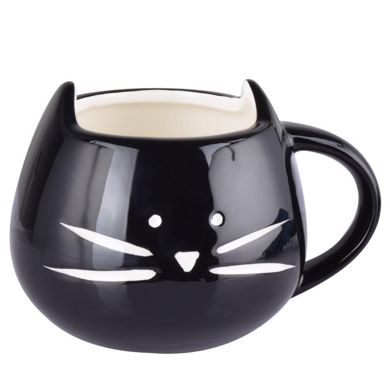 Christmas Gift Alert:  The Artpot Cute Little Black Cat Coffee Ceramic Cup