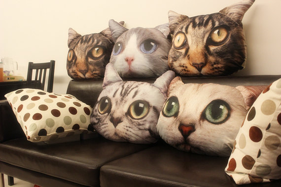 Five Cat Themed Pillows That Are Too Adorable To Pass Up